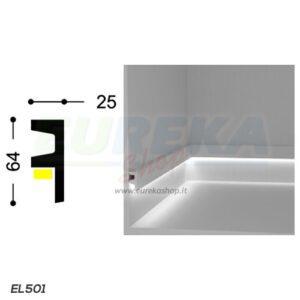 EL501 - Veletta a L da appoggio - barra da 2mt