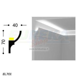 EL701 - Veletta concava chiusa da appoggio - barra da 2mt