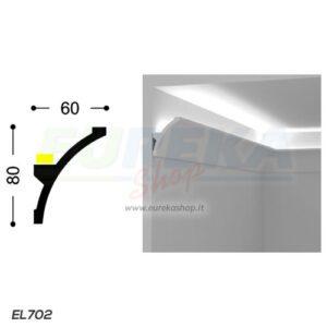 EL702 - Veletta convessa aperta da appoggio - barra da 2mt