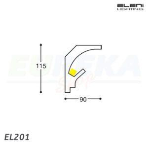 ELENI - Profilo angolo arrontondato per cartongesso - barra da 1.15 mt