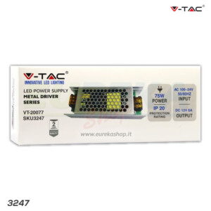 ALIMENTATORE PER LED A 12V - 75W 6A
