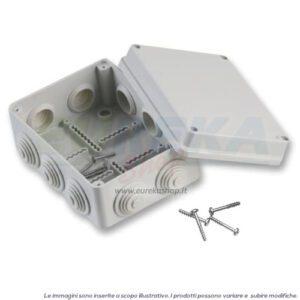 CASSETTA DERIVAZIONE 190X140X70MM C/PASSACAVI IP55