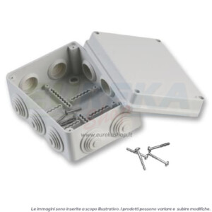 CASSETTA DERIVAZIONE 380X300X120MM C/PASSACAVI IP55