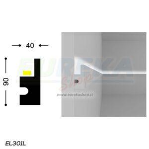 EL301L - Profilo a L da cartongesso o appoggio - barra da 1.15 mt