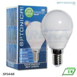 Lampadina LED 6W E14 P45 4500K