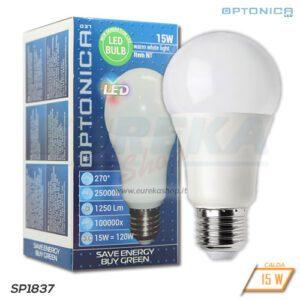 Lampadina LED 15W E27 A60 3000K