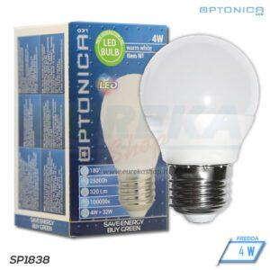Lampadina LED 4W E27 G45 6000K
