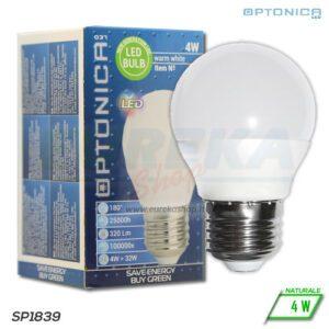 Lampadina LED 4W E27 G45 4500K
