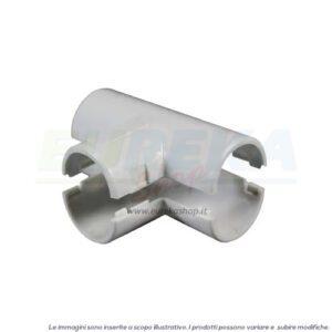DERIVAZIONE A T ISPEZIONABILE IN PVC D. 16 MM