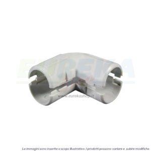 CURVA A 90° ISPEZIONABILE IN PVC D. 20 MM