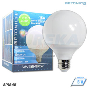 Lampadina LED 15W E27 G120 6000K
