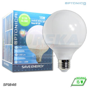 Lampadina LED 15W E27 G120 4500K
