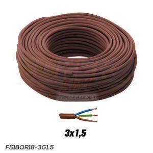 CAVO FS18OR18 300/500V 3G1.5