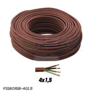 CAVO FS18OR18 300/500V 4G1.5