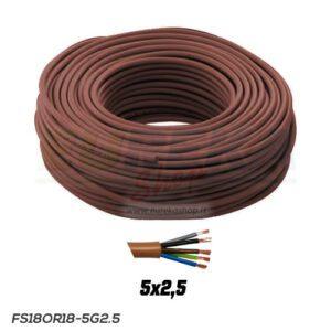 CAVO FS18OR18 300/500V 5G2.5