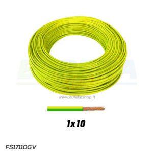 CAVO FS17 1X10 GIALLO/VERDE