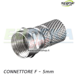 CONNETTORE F DIAMETRO 5 MM