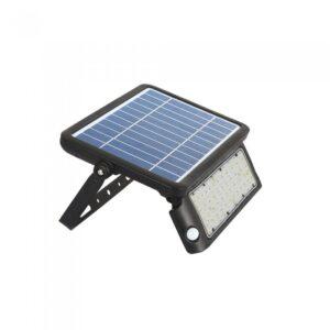 10W LED Solar Floodlight Black Body 4000K