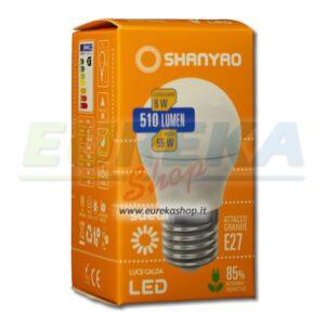 SH - Lampadina a led 6w E27 G45 Calda 3000k