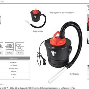 ASPIRACENERE 11Lt 400W, Soffiatore+Aspiratore, potenza di aspirazione >15KPA