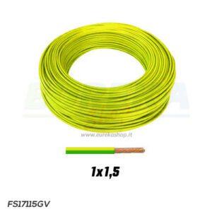 CAVO FS17 1X1.5 GIALLO/VERDE