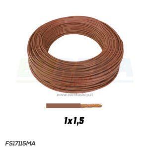 CAVO FS17 1X1.5 MARRONE