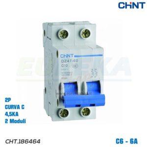 DZ47-60/C6-2P-4,5 -INT MT 2P 6A CURVA C 4,5KA
