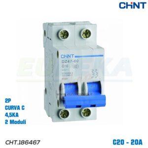 DZ47-60/C20-2P-4,5 -INT MT 2P 20A CURVA C 4,5KA