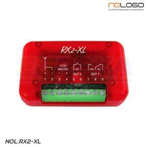 Radioricevitore 2ch fix-Hcs-EB in box rosso 433,92 MHz